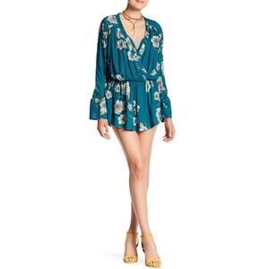 FREE PEOPLE TUSCAN DREAMS TUNIC DRESS FLOWY FLORAL